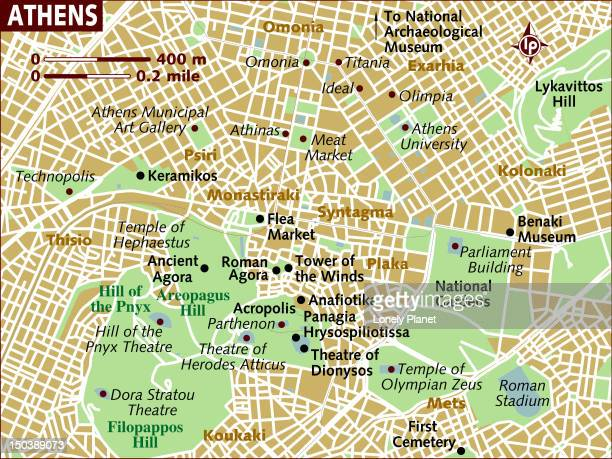 Map of Athens.
