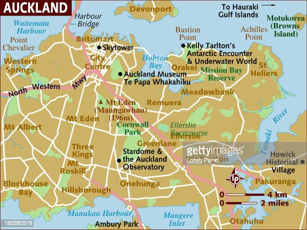 Map of Auckland.