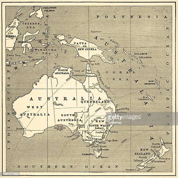 Map of Australasia (1882 engraving)