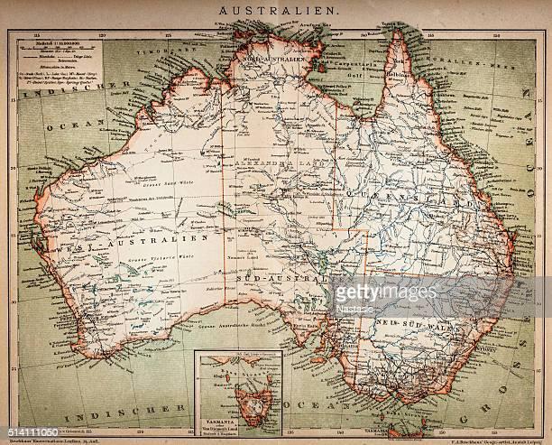 Map of Australasia (1898 engraving)