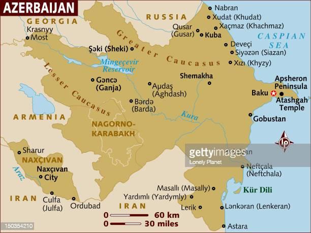 map of azerbaijan. - ナゴルノカラバフ点のイラスト素材/クリップアート素材/マンガ素材/アイコン素材