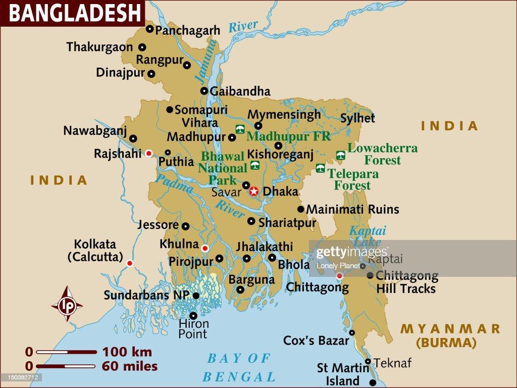 Map of bangladesh stock illustration getty images map of bangladesh gumiabroncs Image collections