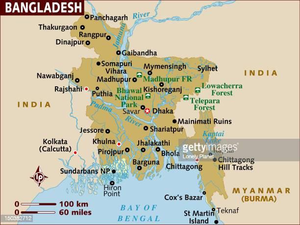 map of bangladesh. - savar stock illustrations