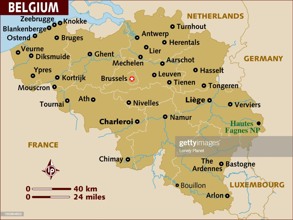 Map Of Belgium Stock Illustration Getty Images