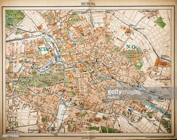 Map of Berlin 1893