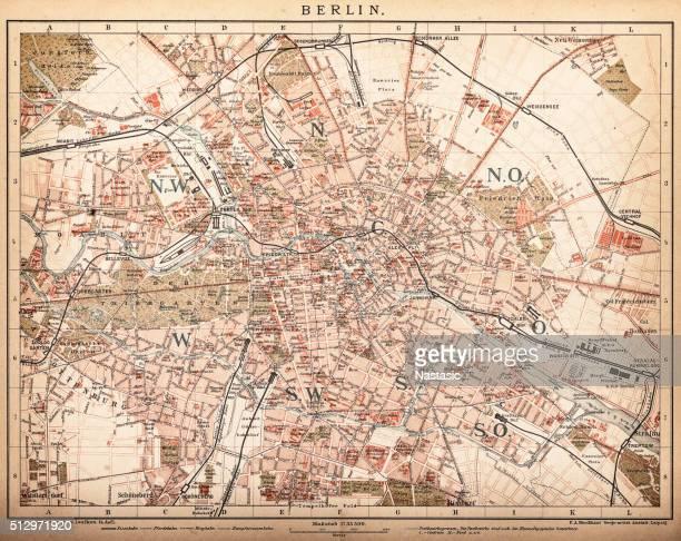 Map of Berlin 1898