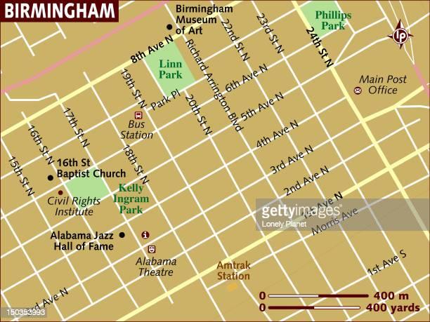 ilustrações, clipart, desenhos animados e ícones de map of birmingham. - birmingham alabama