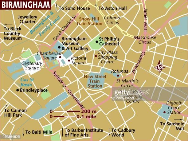 Map of Birmingham.