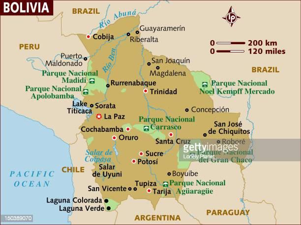 map of bolivia. - cochabamba stock-grafiken, -clipart, -cartoons und -symbole