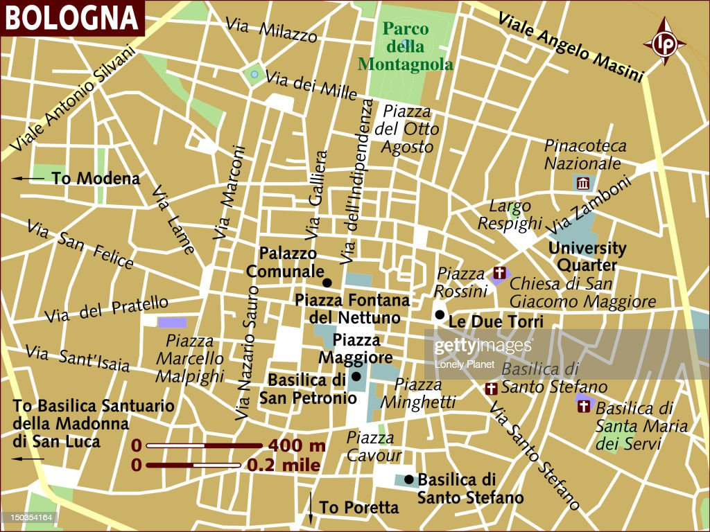 Map Of Bologna Stock Illustration Getty Images