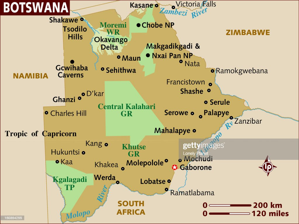 Map Of Botswana Stock Illustration Getty Images