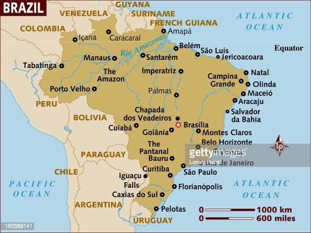Map of Brazil.