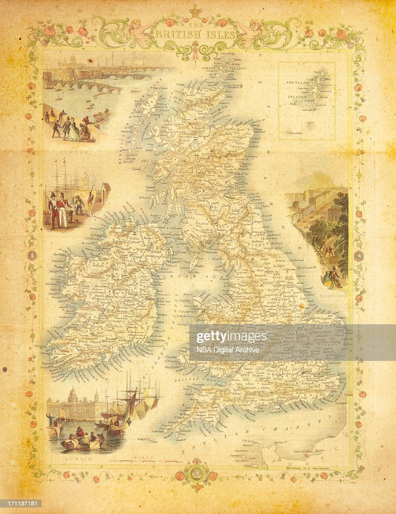 Map of Britain : stock illustration