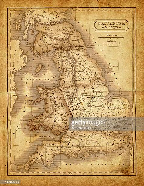 map of britannia during the roman empire - fossil stock illustrations, clip art, cartoons, & icons