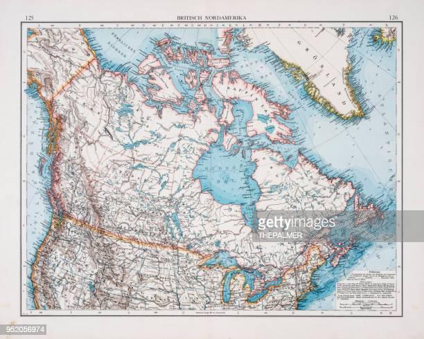 Map of British america1896