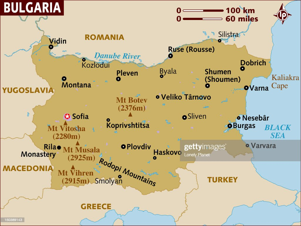 Map Of Bulgaria Stock Illustration Getty Images
