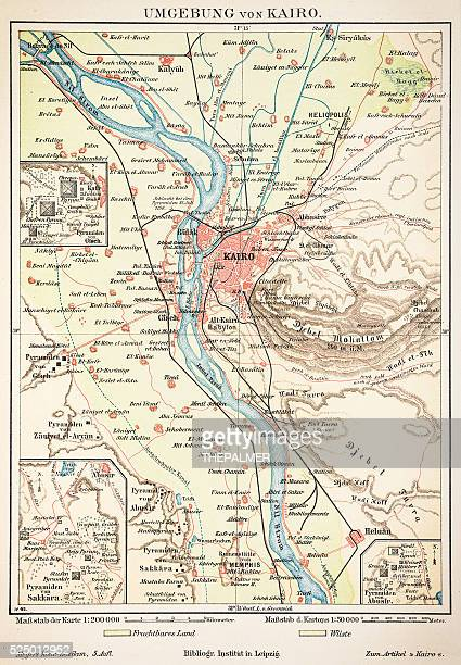 map of cairo 1895 - nile river stock illustrations, clip art, cartoons, & icons