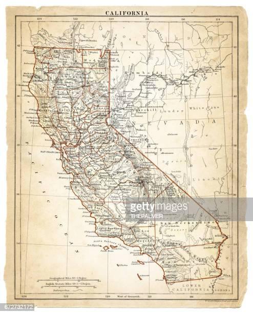 Map of California 1878