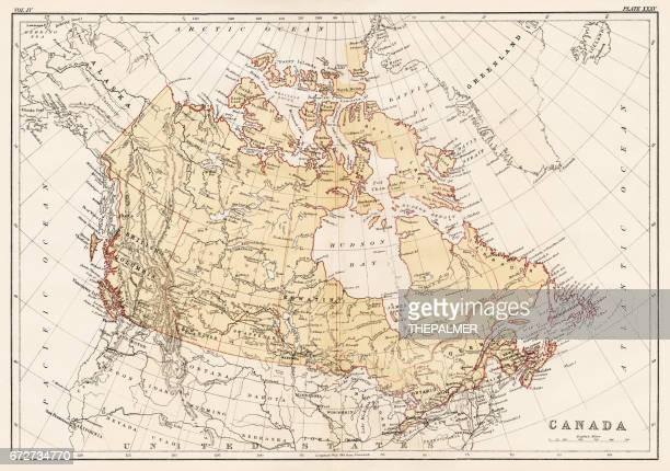Map of Canada 1878