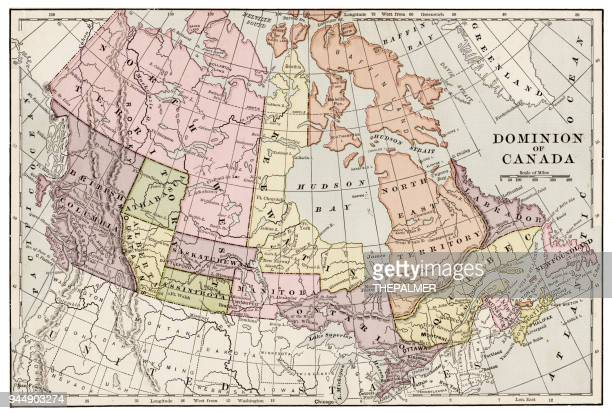 Map of Canada 1889