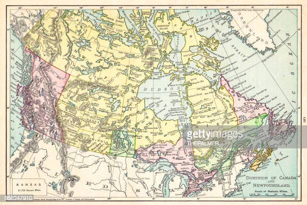 Map of Canada 1895