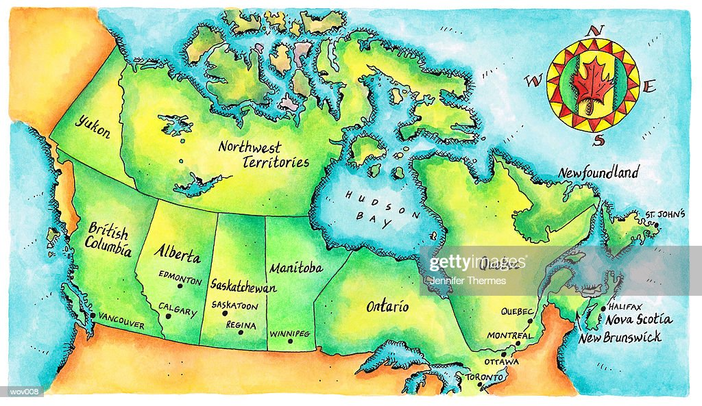 Map of Canada : Illustration