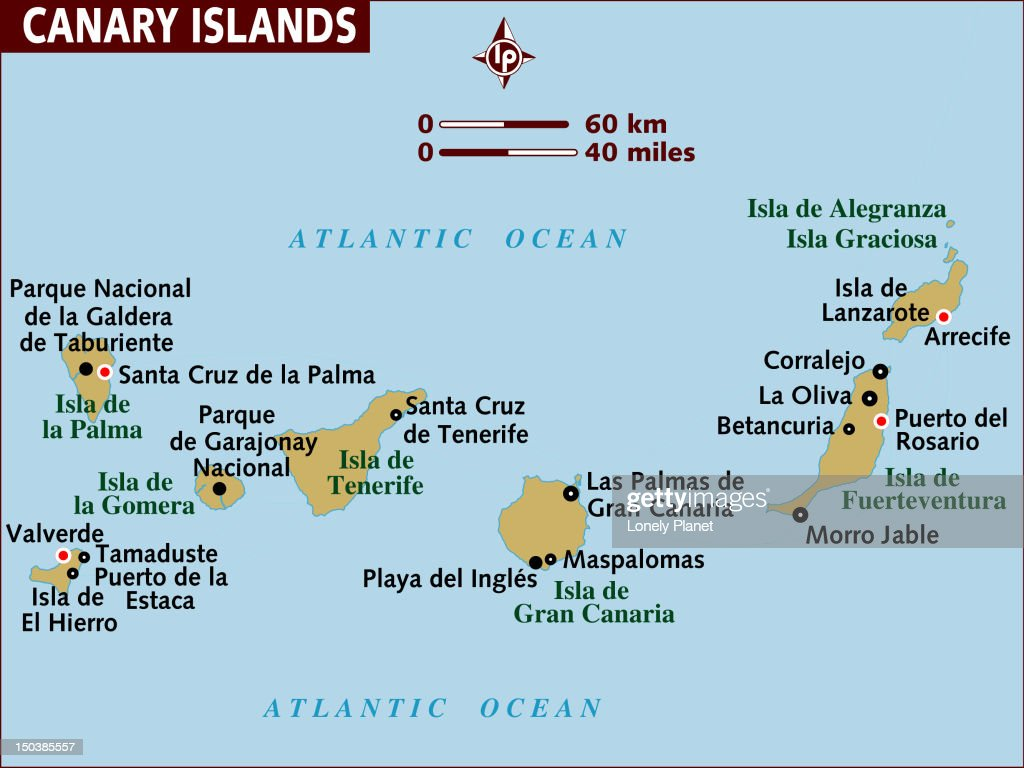 Map Of Canary Islands Stock Illustration Getty Images