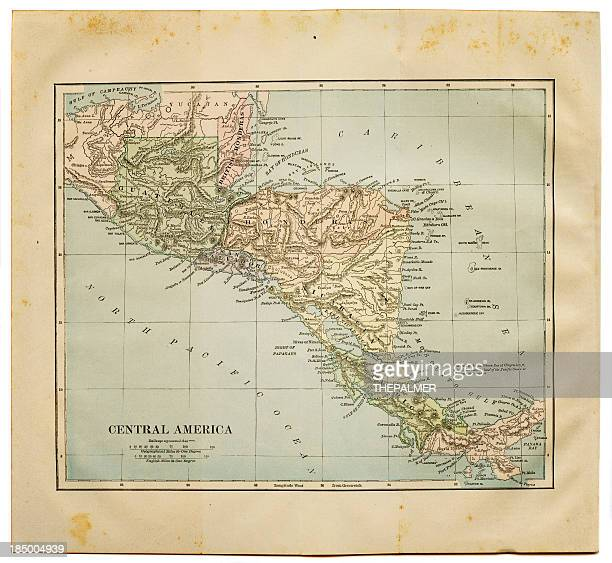 map of central america 1884