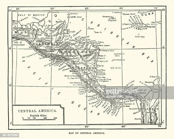 Map of Central America, 19th Century
