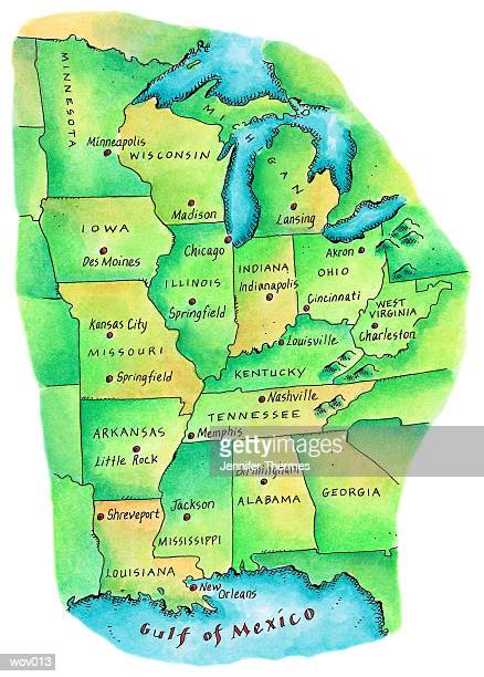 18 United States Time Zone Map High Res Illustrations Getty Images