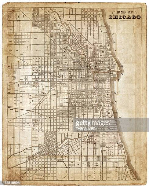 map of chicago 1857