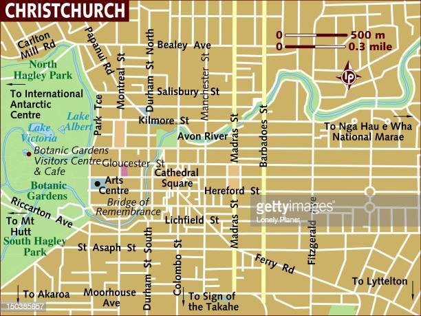 Map of Christchurch.