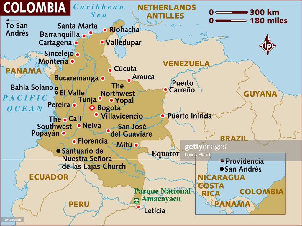 Map Of Colombia Stock Illustration Getty Images