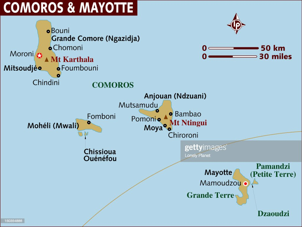 Map Of Comoros And Mayotte Stock Illustration Getty Images