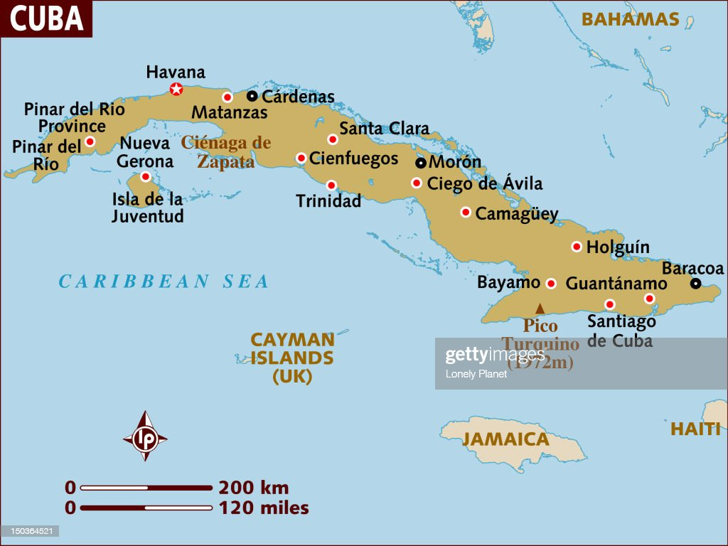 Map Of Cuba Stock Illustration Getty Images