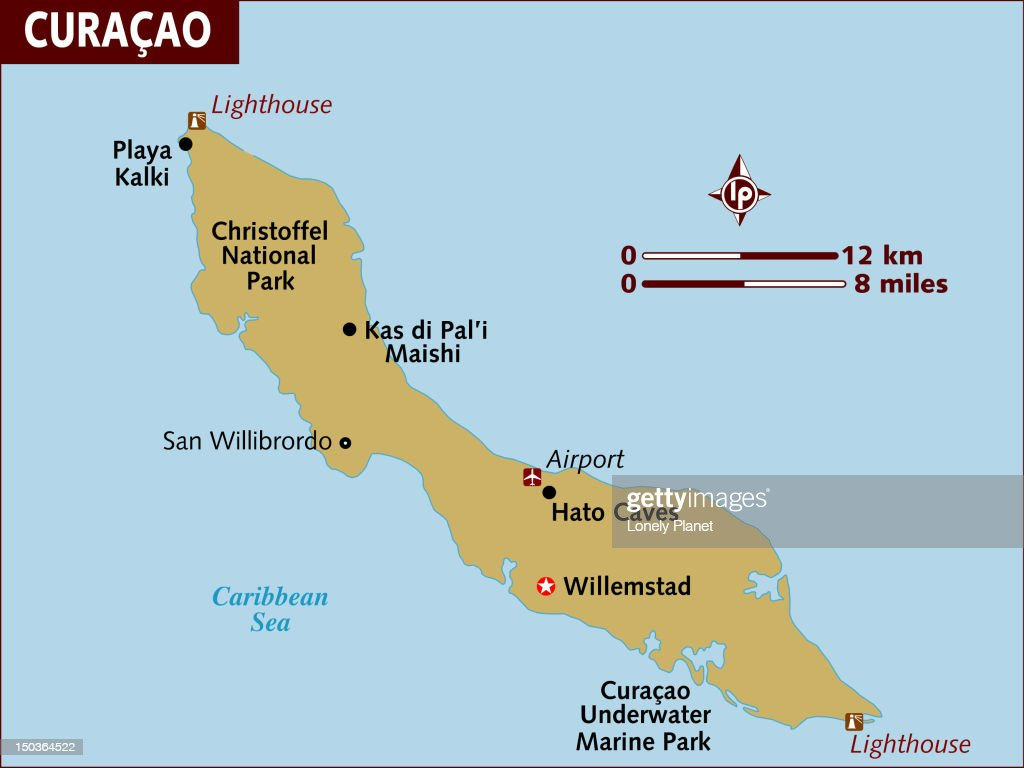 Map Of Curacao Stock Illustration Getty Images