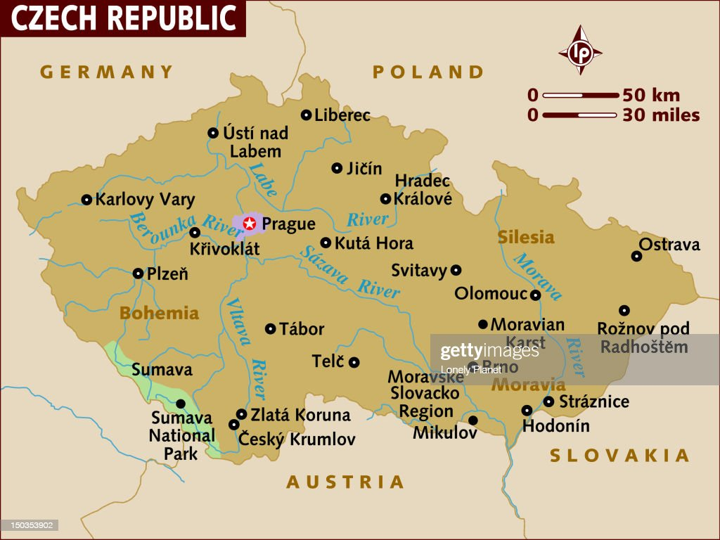 Map Of Czech Republic Stock Illustration Getty Images