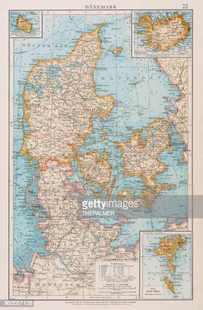 Map of Denmark 1896