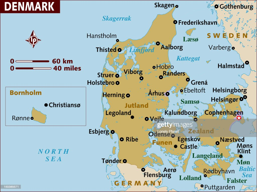 Map Of Denmark stock illustration - Getty Images