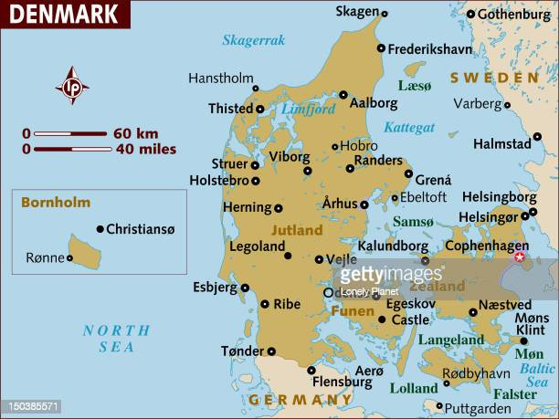Map of Denmark.