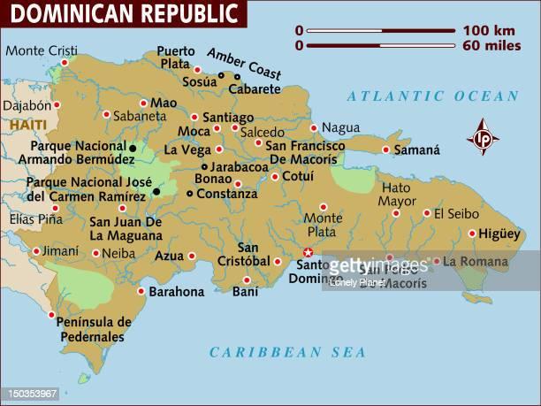 stockillustraties, clipart, cartoons en iconen met map of dominican republic. - pedo