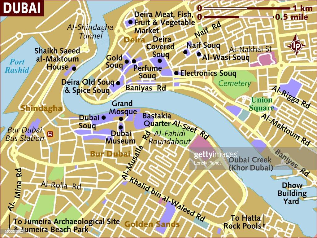 Map Of Dubai Stock-Illustration - Getty Images
