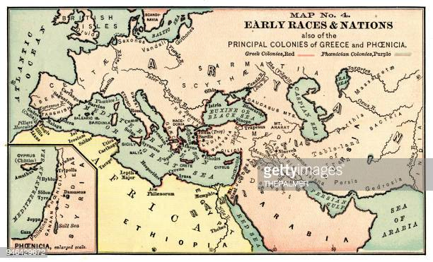 Map of early races and nations 1889