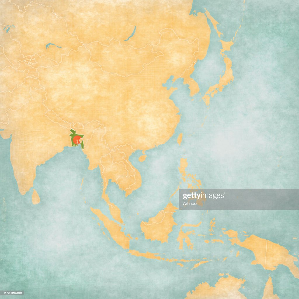 Asia Map Bangladesh.Map Of East Asia Bangladesh Stock Illustration Getty Images