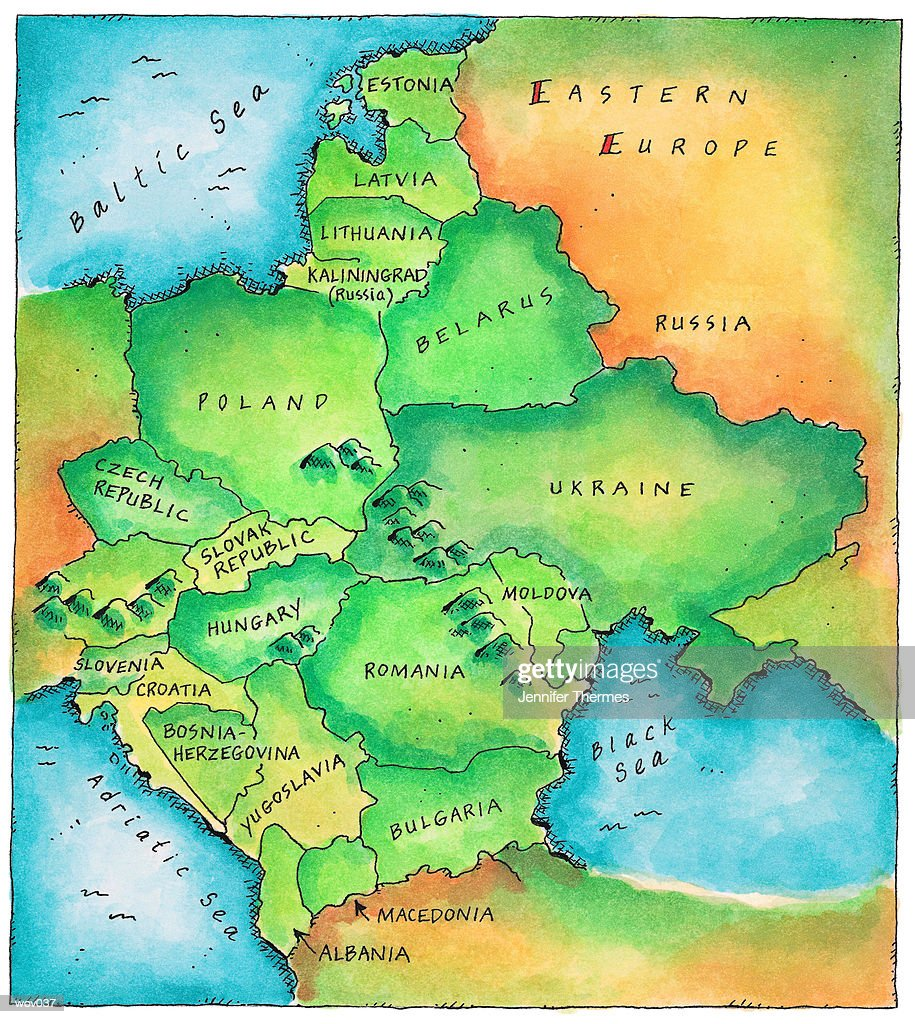 Map of Eastern Europe : Stock Illustration