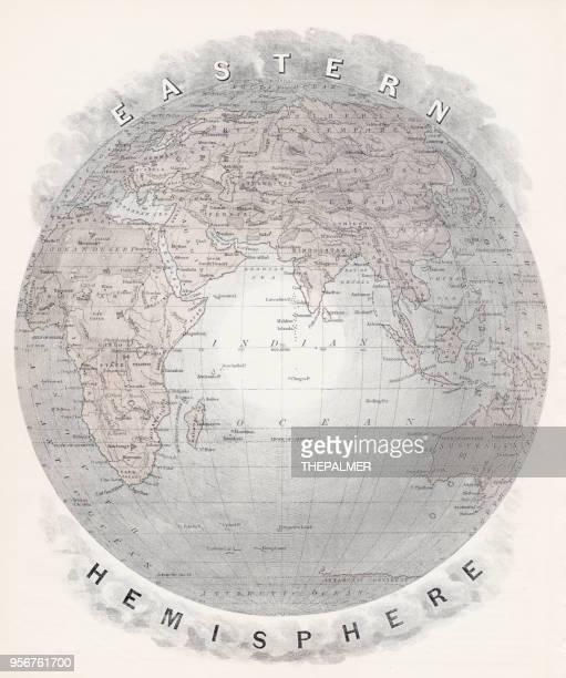 Map of Eastern hemisphere 1877