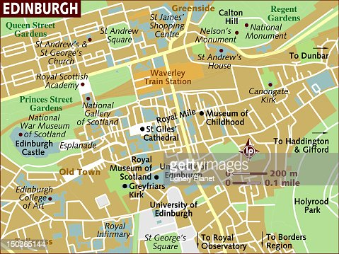 Map Of Edinburgh High-Res Vector Graphic - Getty Images