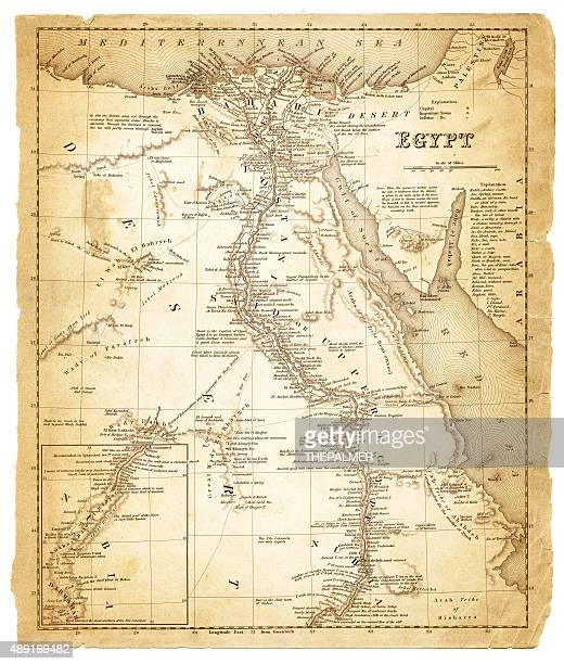 map of egypt 1848 - nile river stock illustrations, clip art, cartoons, & icons