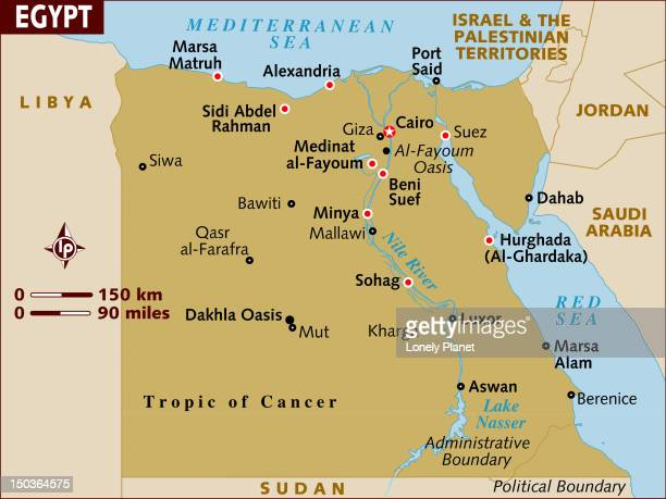 map of egypt. - thebes egypt stock illustrations