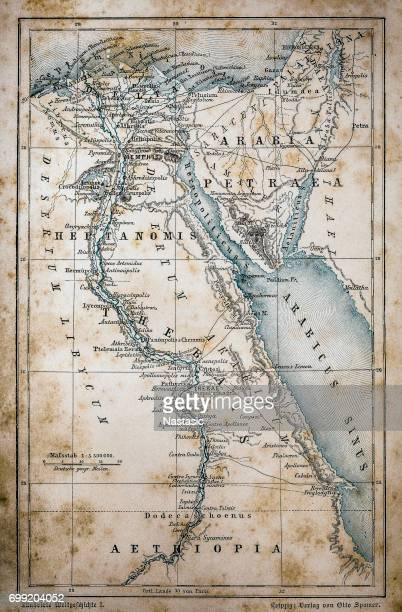 map of egypt - nile river stock illustrations, clip art, cartoons, & icons